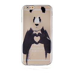 Для Кейс для iPhone 6 / Кейс для iPhone 6 Plus Прозрачный / С узором Кейс для Задняя крышка Кейс для Животный принт Твердый PCiPhone 6s