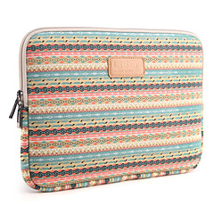 "13"" 14"" 15.6"" Small diamond lattice Pattern Canvas Bag Computer Protective Sleeve Case for Macbook 13 /15 HP lenovo"