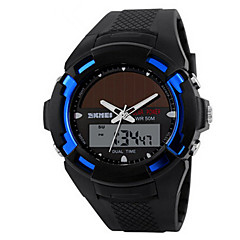 Skmei® Men's Dual Time Zone Soloar Multifunction Wrist Watch 50m Waterproof Assorted Colors Cool Watch Unique Watch Fashion Watch