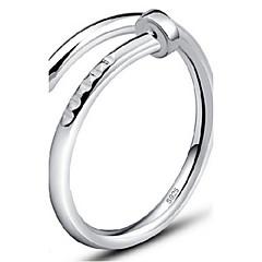 abordables Anillos-Mujer Plata de ley Anillo de banda - Ajustable Plata / Dorado anillo Para Fiesta / Diario / Casual