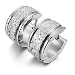 Top Quality Men's Titanium Steel Polished Earring (1PC,Width :6mm)