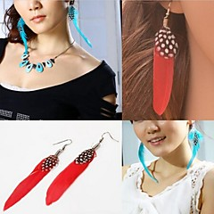 preiswerte Ohrringe-Damen Tropfen-Ohrringe - Rot / Grün / Blau Für Hochzeit Party Alltag