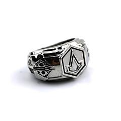 Sieraden geinspireerd door Assassin's Creed Connor Anime/ Computer Games Cosplay Accessoires Ring Zilver Legering Mannelijk
