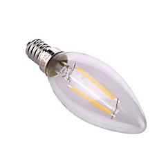 preiswerte LED-Birnen-YWXLIGHT® 1pc 4 W 320 lm E14 / E26 / E27 LED Kerzen-Glühbirnen A60(A19) 2 LED-Perlen COB Dekorativ Warmes Weiß / Natürliches Weiß 220-240 V / 1 Stück / RoHs