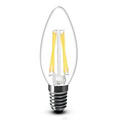 お買い得  LED 電球-400 lm E14 LEDキャンドルライト C35 4 LEDの COB 調光可能 温白色 AC 220-240V