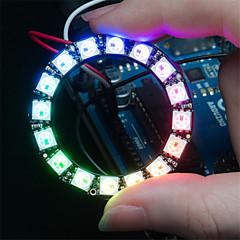 お買い得  ロボット&アクセサリー-ws2812 5050 RGB 16主導のラウンドランプ開発ボード - 黒