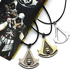 Κοσμήματα Εμπνευσμένη από Assassin's Creed Connor Anime/ Βιντεοπαιχνίδια Αξεσουάρ για Στολές Ηρώων Κολιέ Μαύρο / Κίτρινο / Ασημί Κράμα