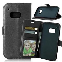 Недорогие Чехлы и кейсы для HTC-Кейс для Назначение HTC Кейс для HTC Бумажник для карт Кошелек со стендом Флип Сплошной цвет Твердый для