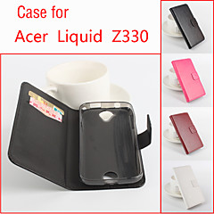 Para Capinhas Acer Porta-Cartão / Com Suporte / Flip Capinha Corpo Inteiro Capinha Cor Única Rígida Couro PU para Acer