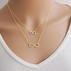 preiswerte Halsketten-Damen Anhängerketten - Unendlichkeit Grundlegend, Doppelschicht Silber, Golden Modische Halsketten Für Party, Alltag, Normal