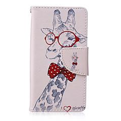 Жираф нарисовал корпус телефона pu для сони xperia z5 Компактные чехлы / чехлы для сони