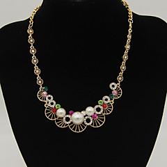 preiswerte Halsketten-Damen Perle Halsketten - Erklärung, Modisch Weiß, Schwarz, Regenbogen Modische Halsketten Schmuck Für Alltag