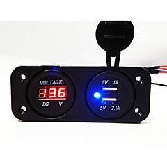 Недорогие Автоэлектроника-двойной usb 2.0 порта автомобильное зарядное устройство с индикатором напряжения водить lcd screen