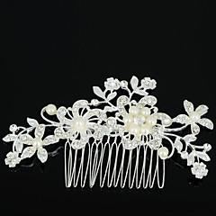 abordables Joyería para el Cabello-Mujer Flor, Zirconio / Brillante / Legierung Peine - Elegante / Peinetas / Peinetas