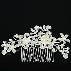 cheap Hair Jewelry-Women's Elegant Zircon Rhinestone Alloy Hair Comb Flower