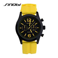 preiswerte Herrenuhren-SINOBI Herrn Sportuhr Armbanduhr Quartz 30 m Wasserdicht Sportuhr Cool Silikon Band Analog Gelb - Gelb