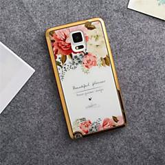 Недорогие Чехлы и кейсы для Galaxy Note 5-Кейс для Назначение SSamsung Galaxy Samsung Galaxy Note С узором Кейс на заднюю панель Цветы ТПУ для Note 5 Note 4