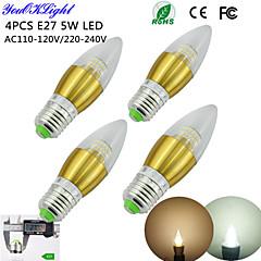 E26/E27 LED Candle Lights C35 50 SMD 3014 450 lm Warm White Cold White 3000/6000 K Decorative AC 220-240 AC 110-130 V