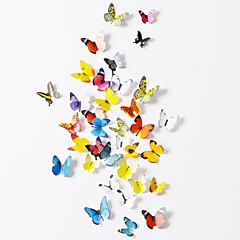 Ζώα Αυτοκολλητα ΤΟΙΧΟΥ 3D Αυτοκόλλητα Τοίχου Διακοσμητικά αυτοκόλλητα τοίχου,Χαρτί Υλικό Αφαιρούμενο Αρχική Διακόσμηση Wall Decal