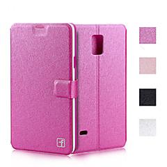 Недорогие Чехлы и кейсы для Galaxy Note 5-Кейс для Назначение SSamsung Galaxy Samsung Galaxy Note Бумажник для карт со стендом Флип Чехол Сплошной цвет Кожа PU для Note 5 Note 4