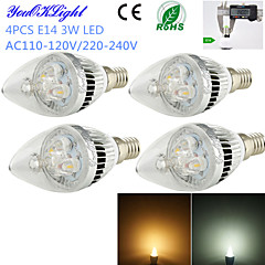 E14 LED Λάμπες Κεριά C35 3 leds LED Υψηλης Ισχύος Διακοσμητικό Θερμό Λευκό Ψυχρό Λευκό 260lm 3000/6000K AC 220-240 AC 110-130V