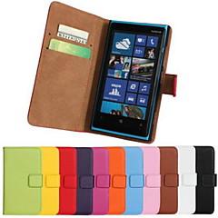 Mert Nokia tok Pénztárca / Kártyatartó / Állvánnyal Case Teljes védelem Case Egyszínű Kemény Műbőr NokiaNokia Lumia 1020 / Nokia Lumia