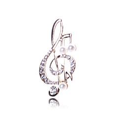 imitação de diamante Notas musicais Dourado Jóias Casamento Festa Ocasião Especial Aniversário