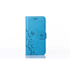 Kompatibilitás Samsung Galaxy tok tokok Kártyatartó Pénztárca Állvánnyal Flip Dombornyomott Teljes védelem Case Virág Műbőr Bőr mert