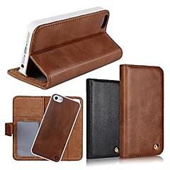 2 in 1 huippulaatua aitoa nahkaa lompakko tapauksessa jalustan kansi iPhone 4 / 4s (eri värejä)