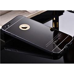Недорогие Кейсы для iPhone 6-Кейс для Назначение Apple iPhone X / iPhone 8 / iPhone 6 Plus Зеркальная поверхность Кейс на заднюю панель Однотонный Твердый Металл для iPhone 8 Pluss / iPhone 8