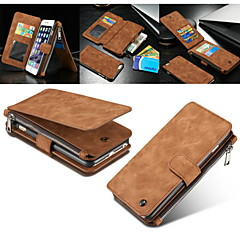 billige iPhone-etuier-Til iPhone 8 iPhone 8 Plus iPhone 7 iPhone 7 Plus iPhone 6 iPhone 6 Plus iPhone 5 etui Etuier Pung Kortholder Med stativ Flip Magnetisk