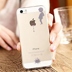 Недорогие Кейсы для iPhone 6-Кейс для Назначение Apple iPhone 8 / iPhone 8 Plus / iPhone 7 Прозрачный / С узором Кейс на заднюю панель Композиция с логотипом Apple Мягкий ТПУ для iPhone 8 Pluss / iPhone 8 / iPhone 7 Plus