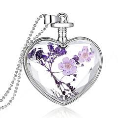 preiswerte Anhänger-Kristall Anhänger - Sterling Silber Herz Modisch Purpur Modische Halsketten Für Hochzeit, Party, Alltag