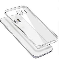 お買い得  Galaxy S6 Edge ケース / カバー-ケース 用途 Samsung Galaxy Samsung Galaxy ケース クリア バックカバー 純色 PC のために S6 edge plus S6 edge S6 S5