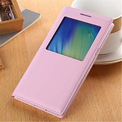 Na Samsung Galaxy Etui Z okienkiem / Flip Kılıf Futerał Kılıf Jeden kolor Skóra PU Samsung A5