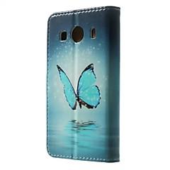 Mert Samsung Galaxy tok Kártyatartó / Pénztárca / Állvánnyal / Flip / Minta Case Teljes védelem Case Pillangó Műbőr SamsungGrand Prime /