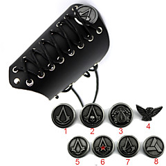 Broń / Biżuteria Zainspirowany przez Assassin's Creed Cosplay Anime Akcesoria do Cosplay Rękawice / Znaczek Černá Slitina / Skóra Męskie