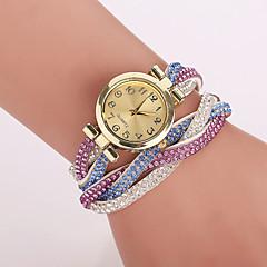 preiswerte Damenuhren-Damen Armband-Uhr Quartz Armbanduhren für den Alltag Imitation Diamant PU Band Analog Blume Leopard Böhmische Blau / Braun / Grün - Hellblau Khaki Regenbogen