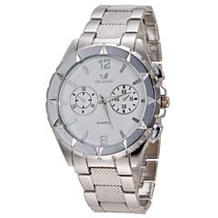 preiswerte Herrenuhren-Herrn Armbanduhr Legierung Band Silber