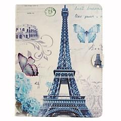 Παρίσι Πύργος έγχρωμο σχέδιο ή σχέδιο pu δέρμα folio περίπτωση θήκη tablet για τον αέρα ipad AIR2 ipad
