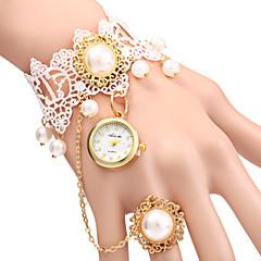 preiswerte Damenuhren-Damen Armband-Uhr Quartz Armbanduhren für den Alltag Legierung Band Analog Perlen Modisch Weiß - Weiß Ein Jahr Batterielebensdauer / SSUO LR626