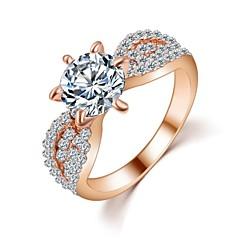 preiswerte Ringe-Damen Bandring - Zirkon Liebe Modisch 6 / 7 / 8 Silber / Golden Für Hochzeit / Party / Geschenk