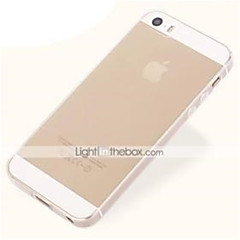 Недорогие Кейсы для iPhone-Кейс для Назначение iPhone 5 Apple Кейс для iPhone 5 Ультратонкий Прозрачный Кейс на заднюю панель Сплошной цвет Мягкий ТПУ для iPhone