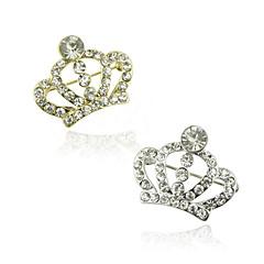 abordables Broches-aleación de las mujeres / diamantes de imitación broche corona broche de cristal 1pc de la boda / fiesta