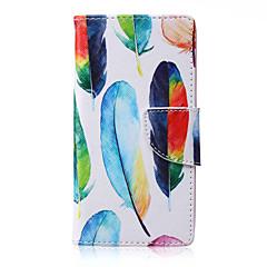 For Samsung Galaxy etui Kortholder / Med stativ / Flip / Mønster / Magnetisk Etui Heldækkende Etui Fjer Kunstlæder Samsung A5 / A3