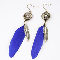 preiswerte Ohrringe-Damen Tropfen-Ohrringe - Feder Personalisiert, Europäisch, Modisch Schwarz / Blau Für Party / Alltag / Normal