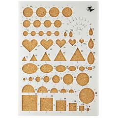 abordables Kits de Actividades de Niños-Decoraciones de vacaciones Formas Artesanía en Papel Herramientas DIY Alta calidad 1 juego 1pc