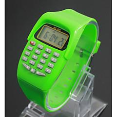 お買い得  レディース腕時計-クォーツ デジタル デジタルウォッチ LCD Plastic バンド チャーム ファッション ブラック ブルー レッド パープル