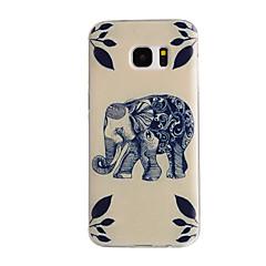 Για Samsung Galaxy S7 Edge Με σχέδια tok Πίσω Κάλυμμα tok Ελέφαντας TPU Samsung S7 edge / S7 / S6 edge / S6