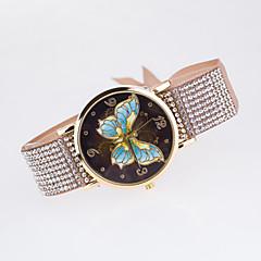 preiswerte Tolle Angebote auf Uhren-Damen Quartz Armbanduhr Imitation Diamant Stoff Band Freizeit Schmetterling Simulierte Diamant-Uhr Modisch Schwarz Weiß Blau Rot Braun